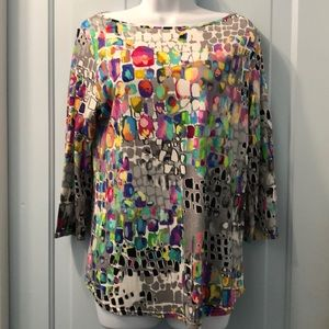 Very colorful top by Peck & Peck Size L